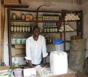 Katamba in his agro-input shop