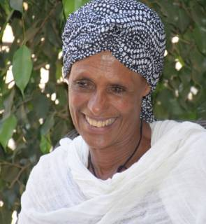 Tige Gelaw, member of the Alen Tesfa women's agro-processing cooperative group