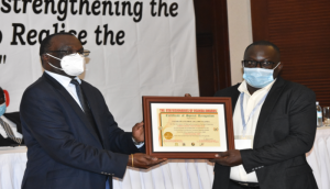 The award was received by the SAA Deputy Country Director – Mr. Bbemba P. Joseph