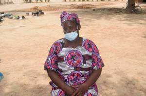 Awa Damba, a chair-lady of female farmer groups at the Production Postharvest handling and Trade Center (PHTC) of Siranikoto