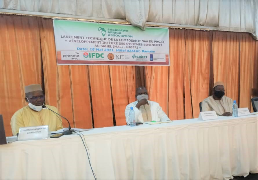 Presidium at the opening ceremony for the launching Workshop of the SAA Component of the Integrated Seed Sector Development in the Sahel(ISSD-SAHEL) Project